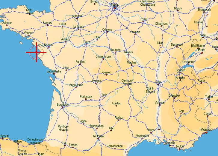 carte de france ile de noirmoutier